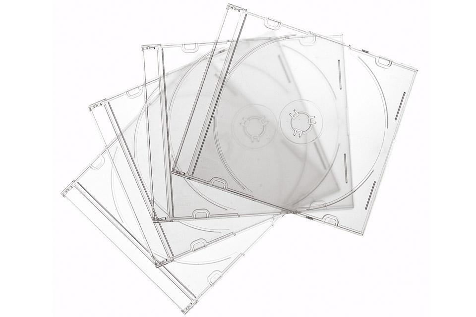Spar plads i CD reolen med slimline CD covers, som kun fylder det halve af normale. Leveres i pakker a' 10 stk. eller mere.