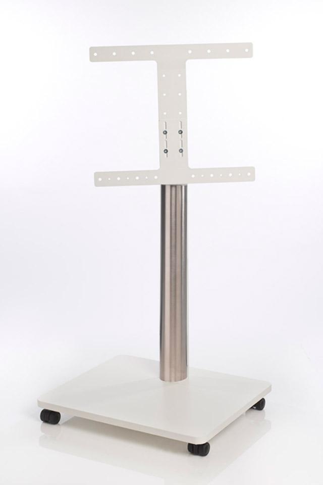 Bülow TV stand, hvid fod med stål cylinder