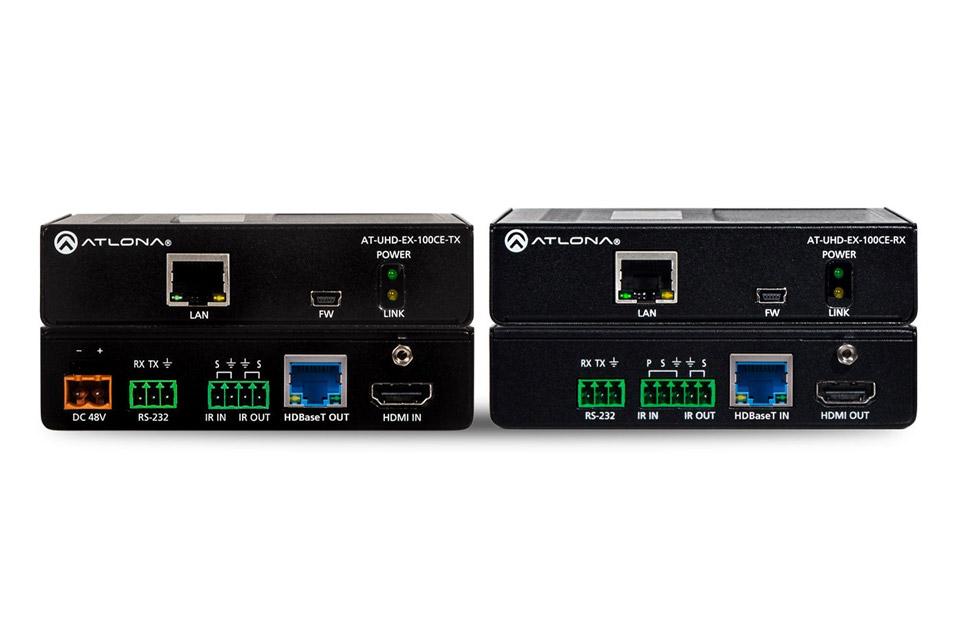 Proffessionelt HDMI forlængerkit der gør det muligt at forlænge et 4K/UHD signal op til 100 meter. Kan også forlænge ethernet, RS-232 og et IR signal.