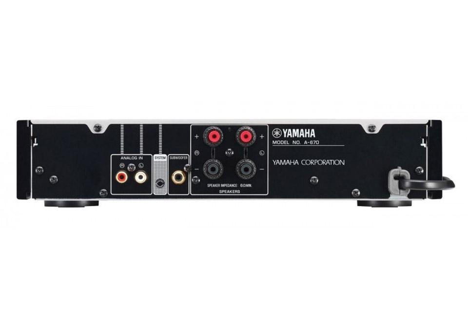Yamaha A 670 Slim Amplifier 2x 65w 6 Ohm