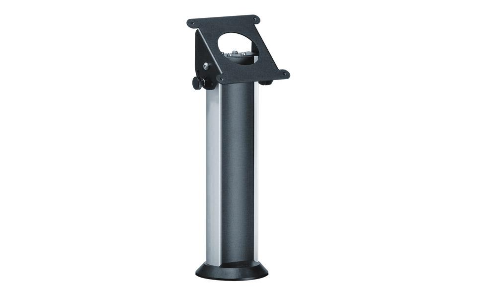 Bordstand til PTS 12xx tablet sikkerhedskabinet, med op til 90 grader tilt og integreret kabelskjuler. Skal skrues fast til bordet.