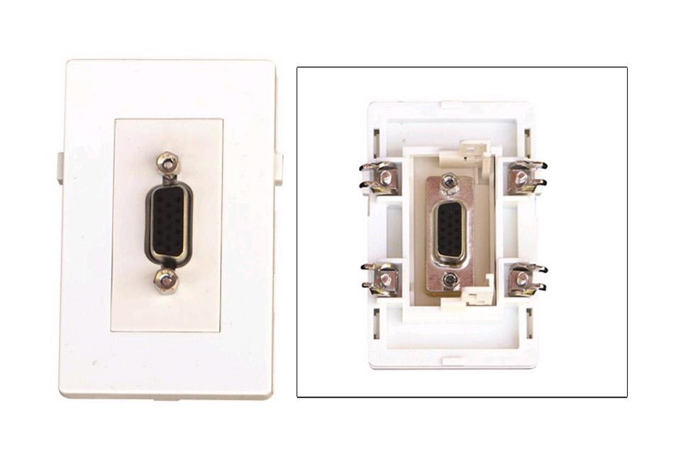 VGA vægdåse til Fuga installationsdåser/underlag. (VGA HUN - HUN)