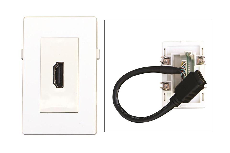 HDMI vægdåse til Fuga installationsdåser/underlag.