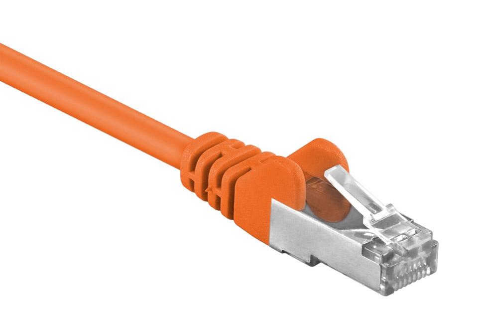 Network cable, Cat 5e F-UTP, Orange