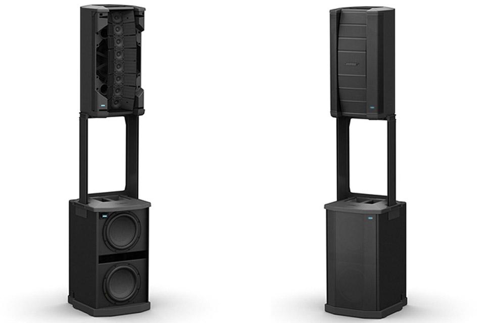 Lej et kraftigt professionelt transportabelt lydsystem fra BOSE. F1 systemet består af 2 bundkasser og 2 topkasser med sound array konfiguration.