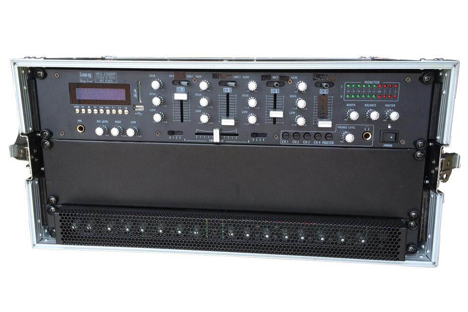 Lej et mixerrack tilpasset BOSE F1 systemet inkl. mikrofon og let tilslutning af CD afspiller, computer, telefon eller andre lydkilder.