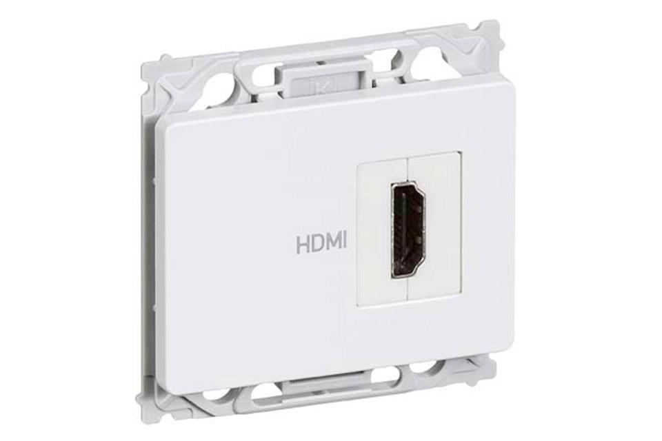 HDMI vægdåse til OPUS® installationsdåser/underlag.