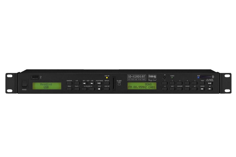 Professionel FM, MP3 og Bluetooth afspiller til rack montering, med USB forbindelse og fjernbetjening.