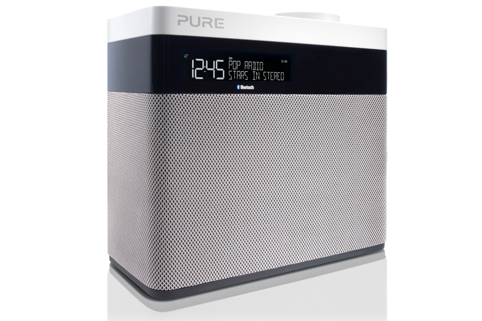 Pure Pop Maxi BT med Bluetooth DAB+ og FM-radio, den største i Pop-serie som gør det nemt med fem dedikerede knapper til forudindstillede radiokanaler