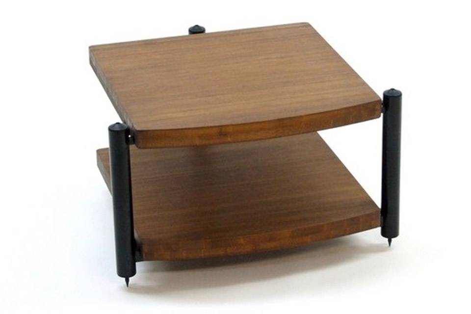 Eris Eco Hi-Fi grund møbel med 2 hylder. Hylderne er udført i mørkt bambus materiale, som både er flot og ekstremt stabilt.