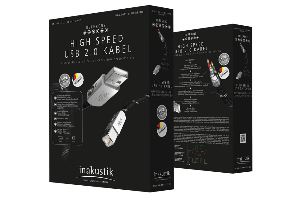 Ultimativt high-end USB kabel fra inakustik til den kræsne Hi-Fi entusiast.