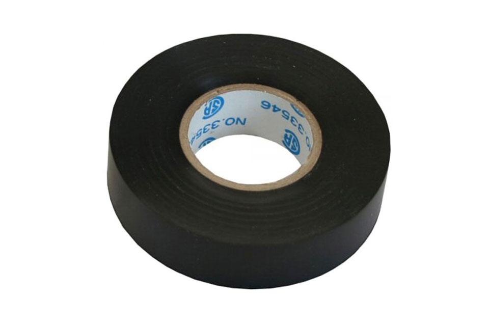 Elektrikertape kan anvendes til at isolere eller samle/bundte ledninger med. Denne sorte udgave er 18 mm. bred og 18 meter lang.