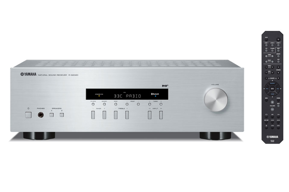 Kraftig og prisvenlig stereo receiver fra Yamaha. R-S202D kommer med bluetooth, FM og DAB+ radio.