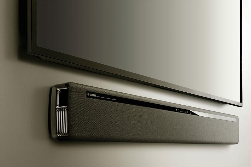 YAS 306 er en flot og velspillende MusicCast soundbar til montering direkte på væggen under et TV eller på et TV bord.