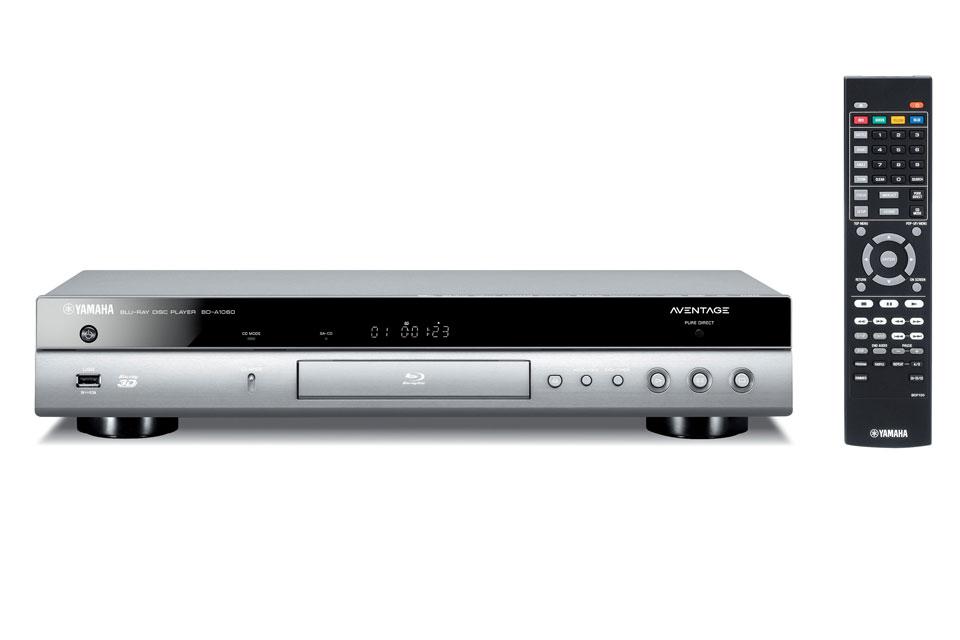 Blu-ray afspiller fra Yamaha med 4K opskallering, CD-mode og pure direct for bedst mulig lyd og billede oplevelse til film og musik.