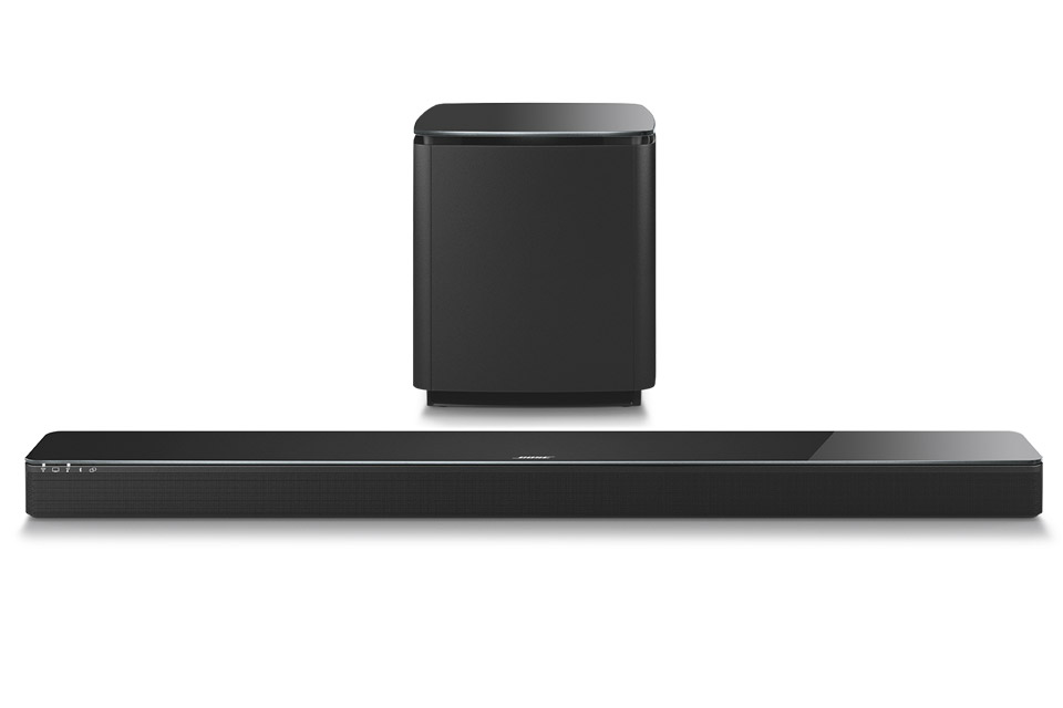 Bose 3.1 system bestående af 1 stk. SoundTouch 300 soundbar og 1 stk. Acoustimass 300 trådløs subwoofer.