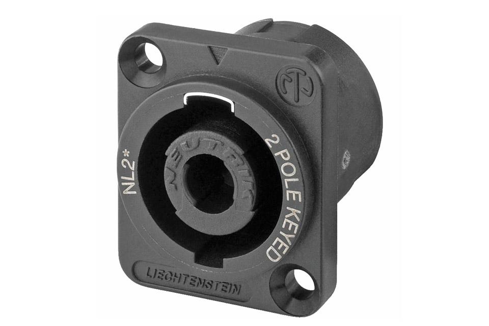 Speakon speaker connector, 2 pole male