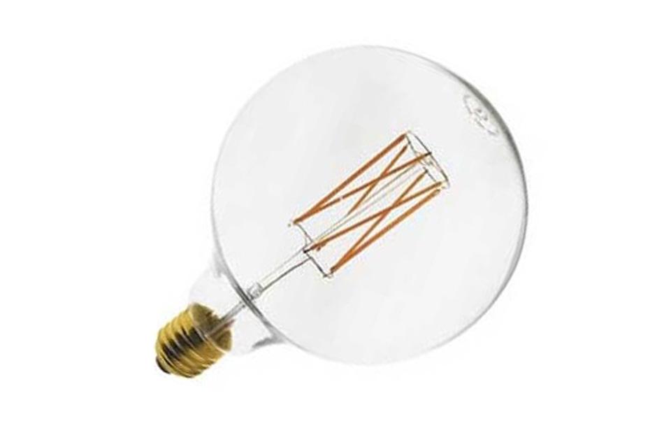 SunFlux LED globepære med en diameter på Ø125 mm med varm-hvid lys og et forbrug på kun 6,5W - Perfekt erstatning for en alm. 50 W globepære, dæmpbar
