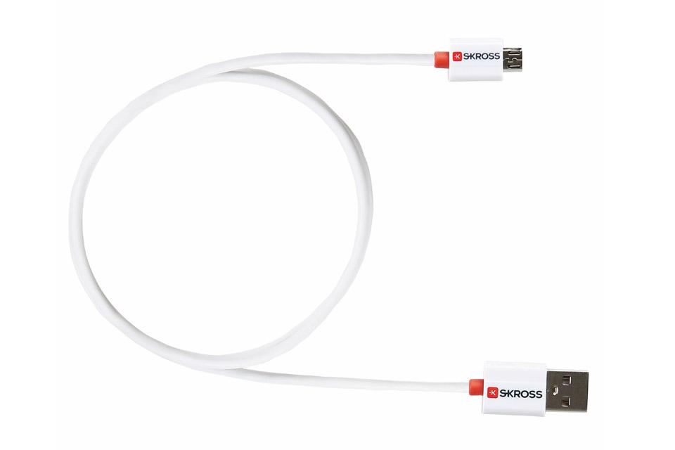 Skross mikro USB kabel i meget høj kvalitet, der giver en højhastighedsforbindelse til at oplade og synkronisere smartphones og tablets med mikro USB.
