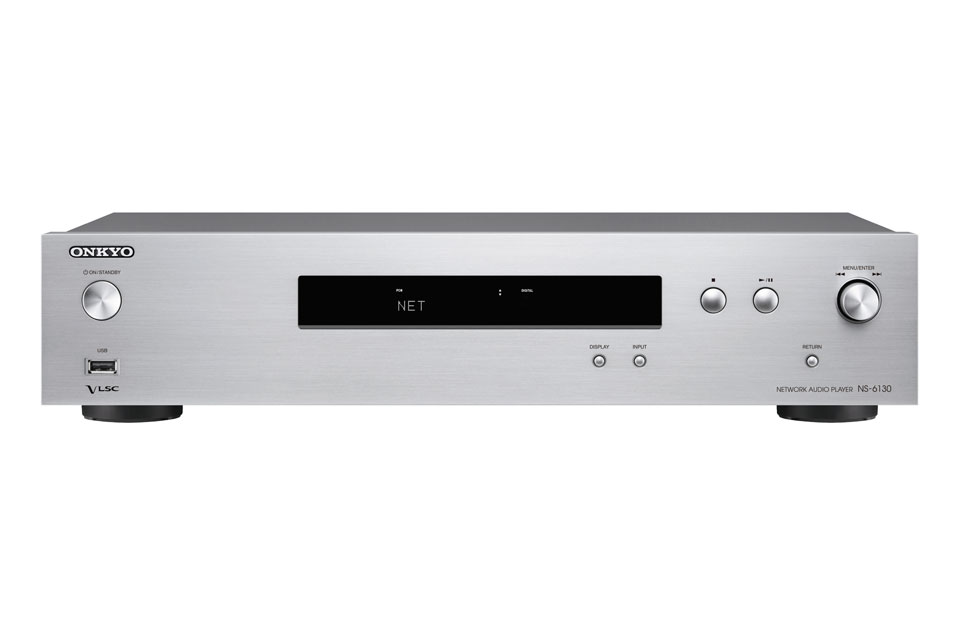Onkyo NS-6130 netværks afspiller tilbyder nyeste streaming og multirums løsninger takket være FireConnect, AirPlay og Google Cast.