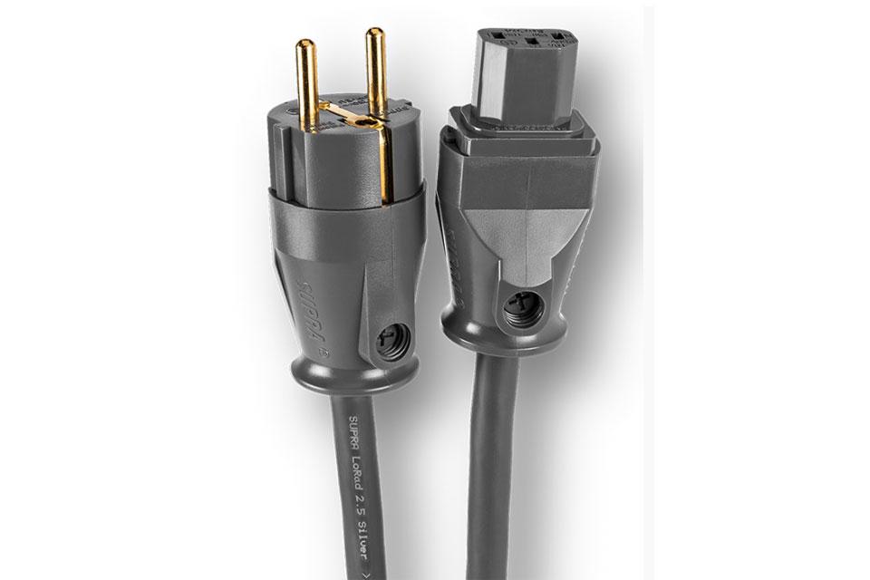 Anniversary udgave af det anerkendte Supra Lorad kabel, med sølvpletterede kobber ledere. Denne udgave har lige Shuko han og apparat hun.