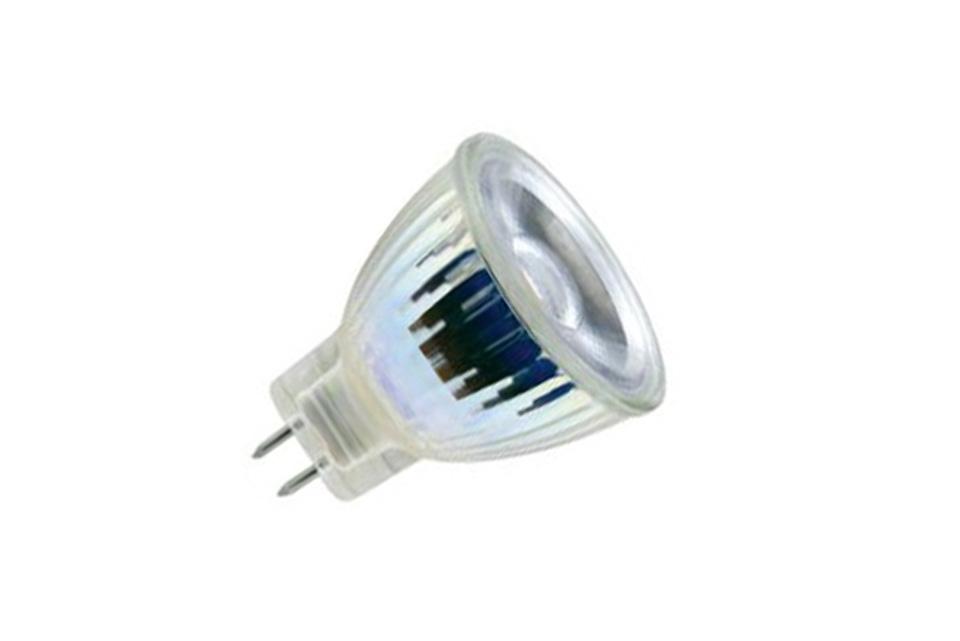 Enormt SunFlux MR11 GU4.0 LED spot pære, 3W, 2700K, 40º, dæmpbar CT33