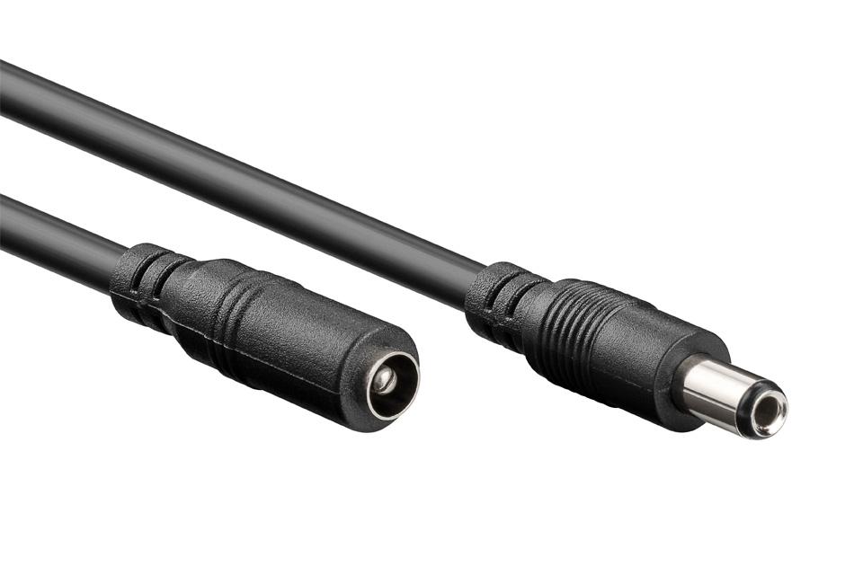 DC forlængerkablet kan f.eks bruges til at forlænge det eksisterende DC kabel til en laptop. Passer kun til DC stik med en diameter på 5.50 x 2.50 mm.