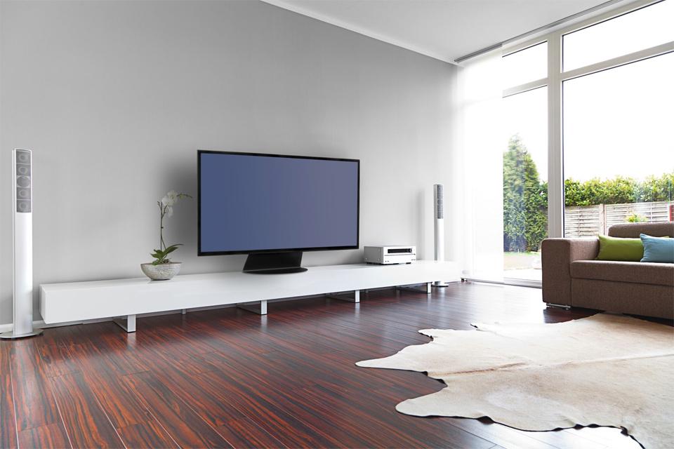 Alpha Home Basic bord TV stand, lifestyle