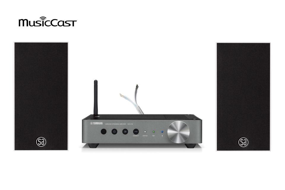 MusicCast streaming løsning med de populære Saxo 1 højttalere fra danske System Audio. Leveres inkl. 6 m. højttalerkabel fra Supra.