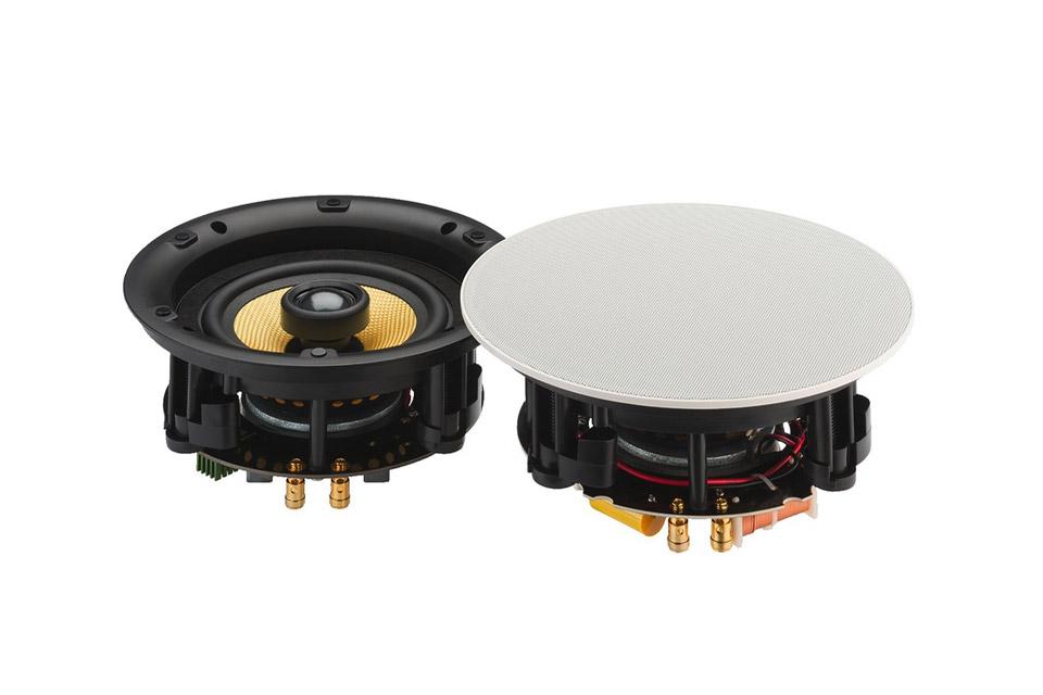 Aktivt indbygnings lofthøjttalersæt med Bluetooth modtager indbygget. Sættet består af 1 aktiv og 1 passiv højttaler.