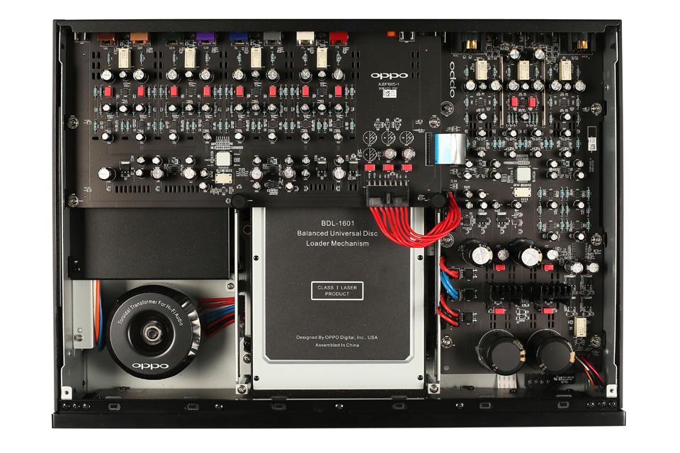 Oppo UDP-205 Ultra HD afspiller, inside view