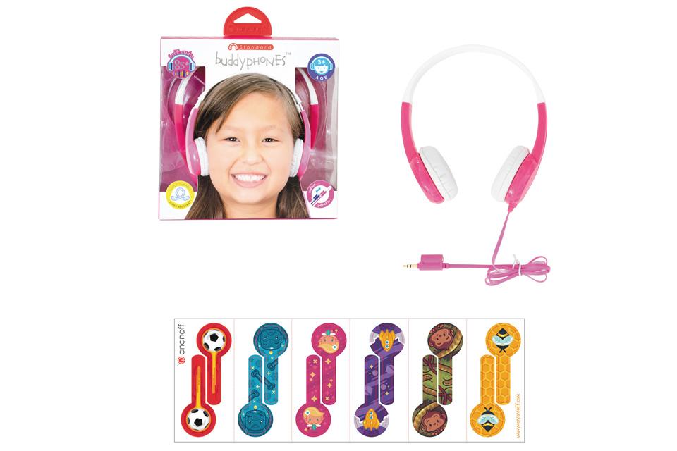 BuddyPhones Standard Børnehovedtelefoner, tilbehør