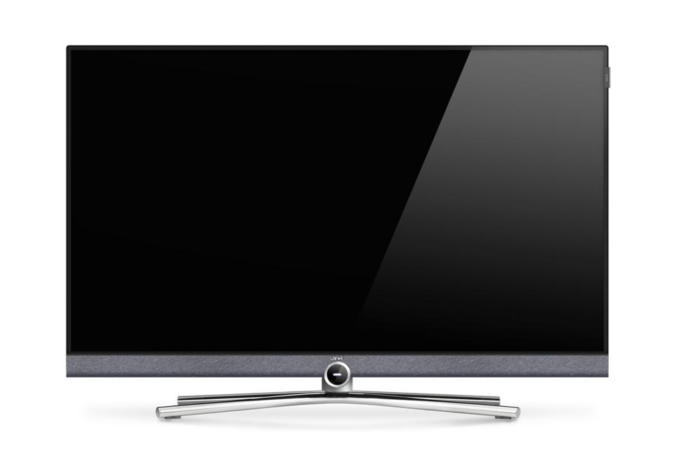 Loewe Bild 5 i en 40 tommers udgave med Ultra-HD LED panel og elegant bordfod som standard. Leveres i enten Grafitgrå, Cappuccino eller lys-grå finish.
