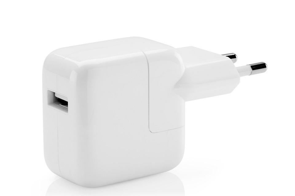 Original Apple 12W USB oplader til ladning af f.eks. iPad og iPhones.