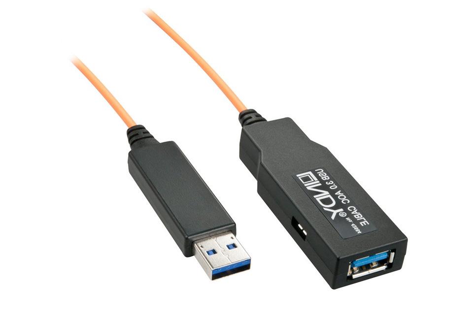 Lindy Fibre Optic Usb 3 0 Extension Cable