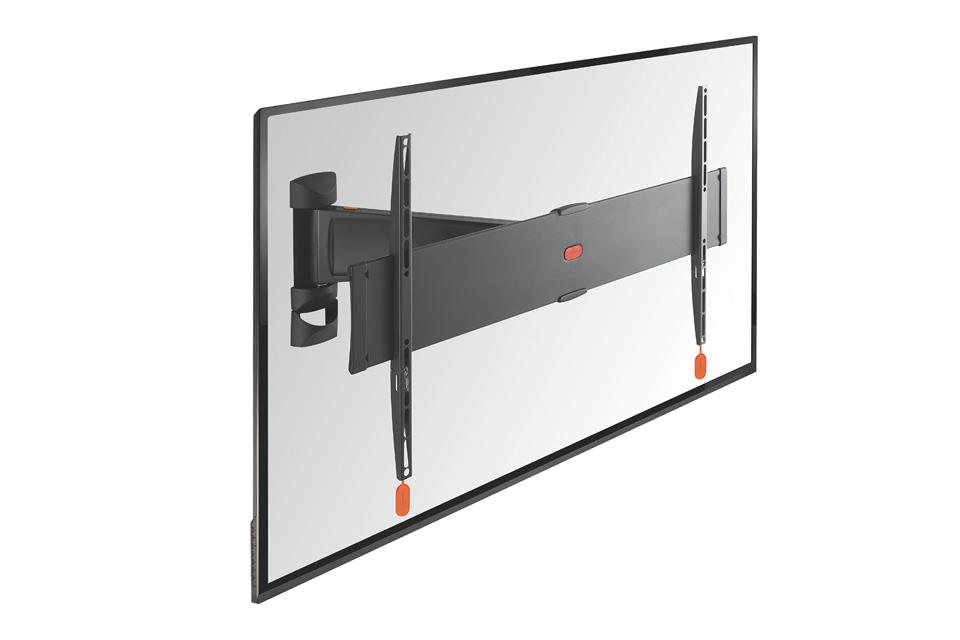 Vogels BASE 25-L er et TV vægophæng med 2 drejeled (op til 120 grader), der passer til fladskærme i størrelsen 40-65