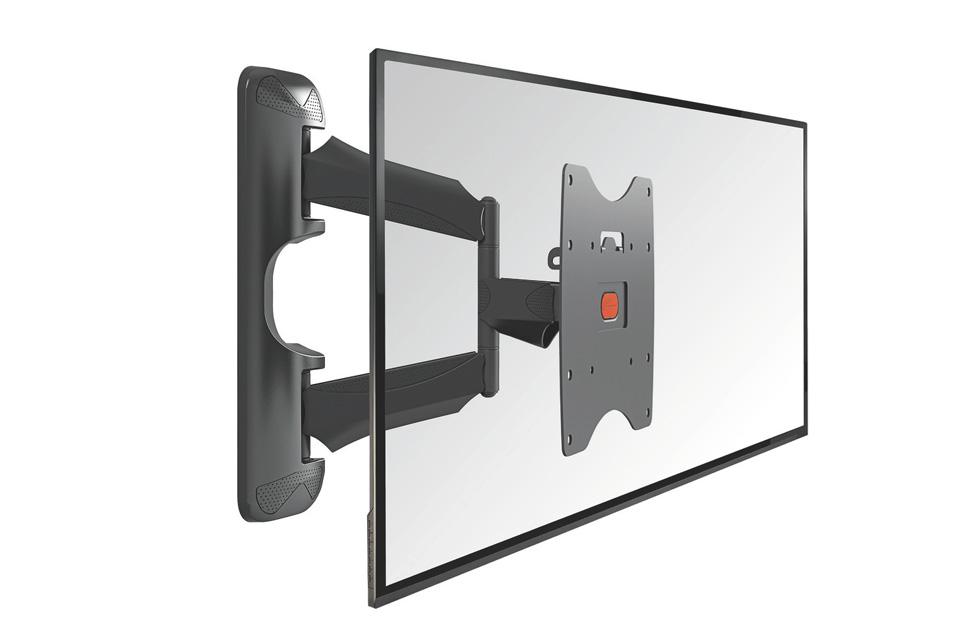 Vogels BASE 45-S er et TV vægophæng med 3 drejeled (op til 180 grader), der passer til fladskærme i størrelsen 19-40