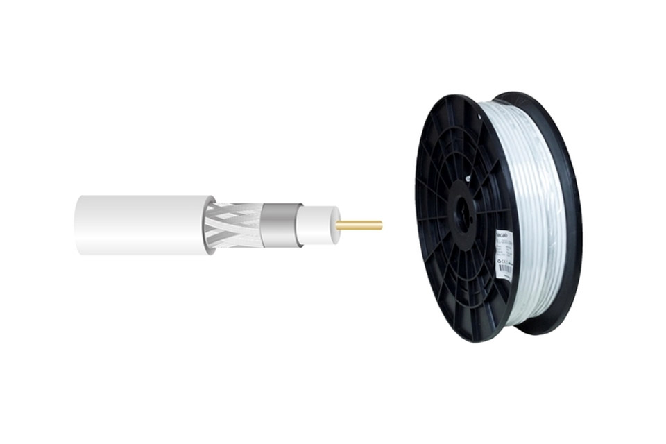 Double-shielded black flame retardant 50 ohms cable. Used for long pulls from 3G / 4G antenna to modem.