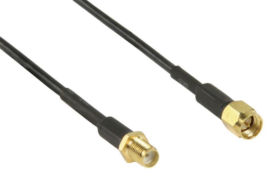 SMA Forlængerkabel til eksterne antenner typisk på 3G/4G modems og andet trådløst udstyr.
