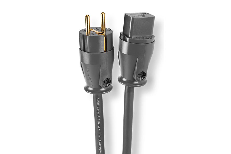Anniversary udgave af det anerkendte Supra Lorad kabel, med sølvpletterede kobber ledere. Denne udgave har Shuko han og 16A apparat hun.