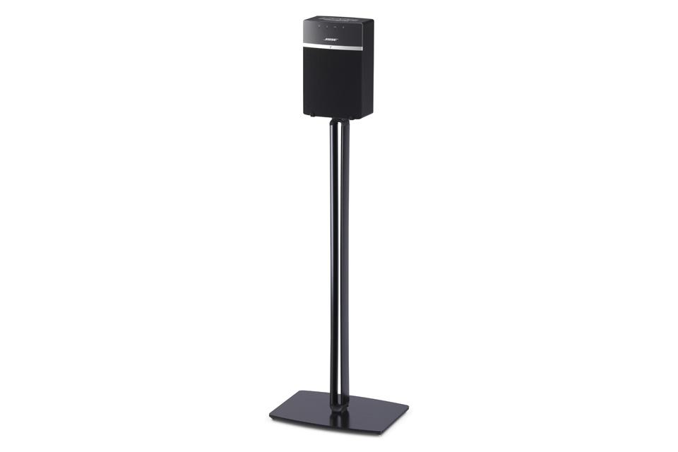 Få din SoundTouch 10 højttaler op i lytte højde med en gulvstander fra SoundXtra. Gulvstanderen er udført i aluminium/stål og har skjult kabelføring.