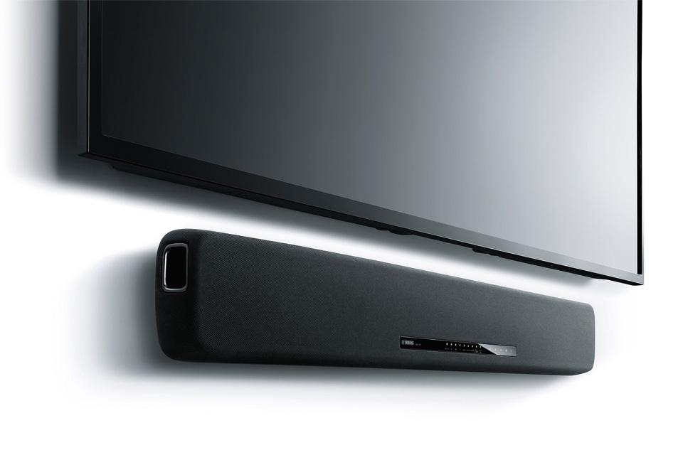 Du kan få meget mere ud af dit TV! Tilslut en Yamaha YAS-107 soundbar via HDMI ARC og fyld rummet med en klar og kraftfuld lyd, anvendes både til film og musik.