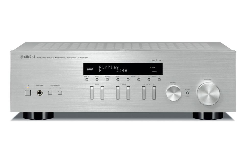 Yamaha R-N303D stereo receiver, sølv