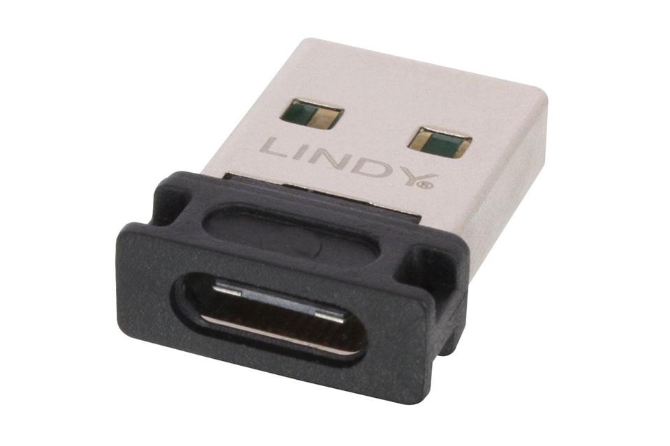USB 2.0 adapter der går fra Type A han til Type C hun.