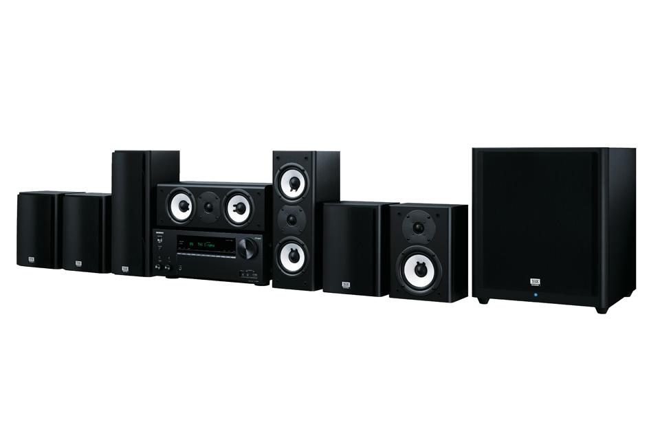 Komplet THX godkendt hjemmebio system inkl. surround receiver og 7.1 højttalere.