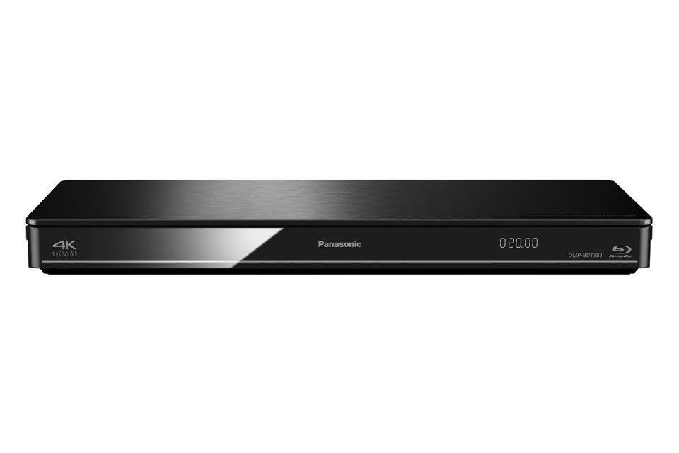 Panasonic DMP-BDT383 byder på overlegen billedkvalitet og et væld af smarte funktioner, samt 4K opskallering. BDT383 har indbygget WiFi.