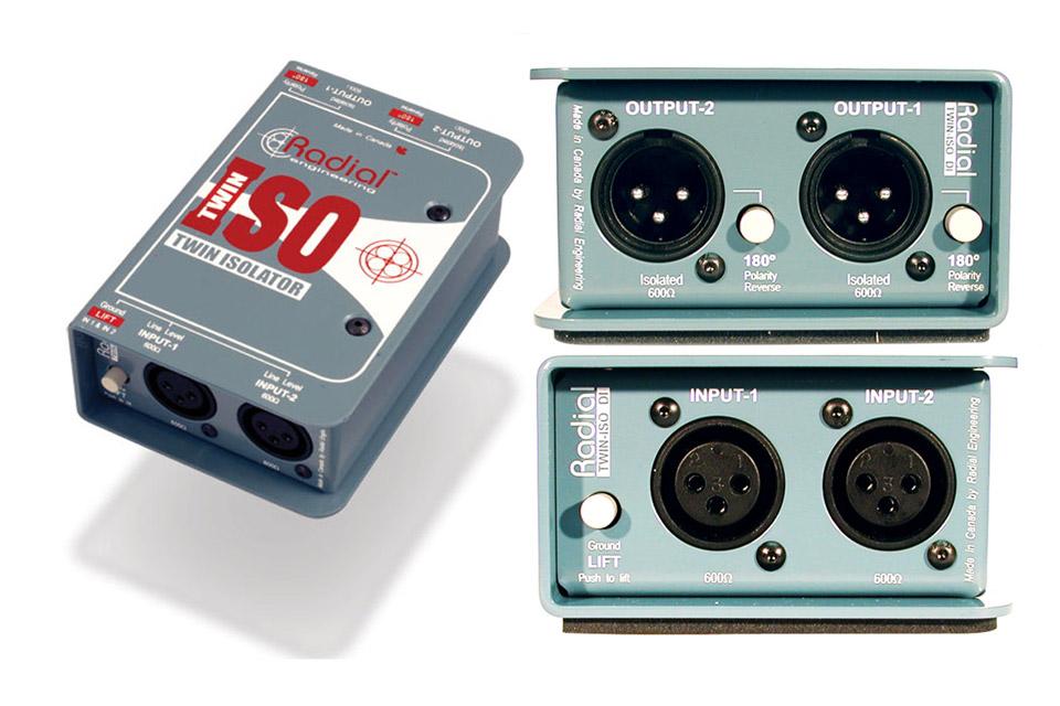 Proffesionel 2-kanals balanceret line isolator, til eliminering af brum og støj.