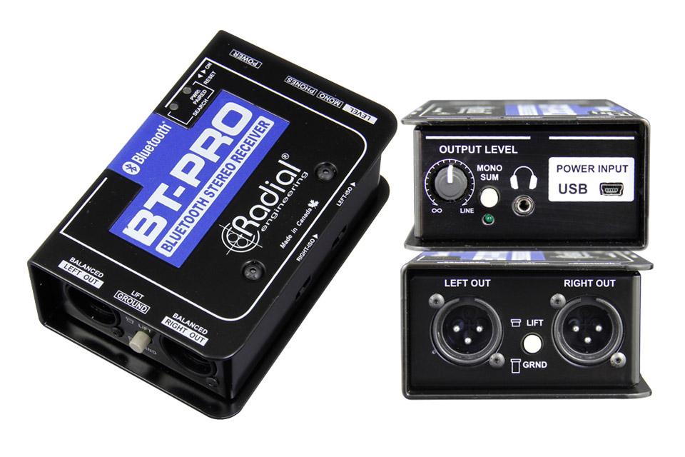 Bluetooth DI modtagerboks til PA anlæg. For trådløs afspilning af musik fra en smartphone eller tablet, til et PA anlæg med XLR.