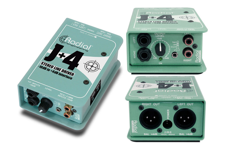 Radial J+4 Balanced -10dB to +4dB signal driver