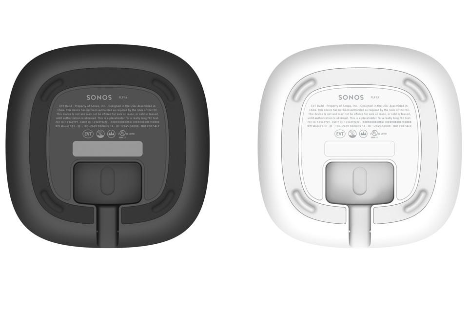 Sonos One smarthøjttaler, bottom view